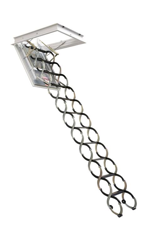Půdní schody JAP LUSSO - ZP - zateplené Stavební otvor délka x šířka:: 700 x 500 mm, Výška stropu:: 2200 - 2400 mm od podlahy ke stropu
